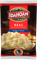 Idahoan Real Mashed Potatoes Butter and Herb Pouch