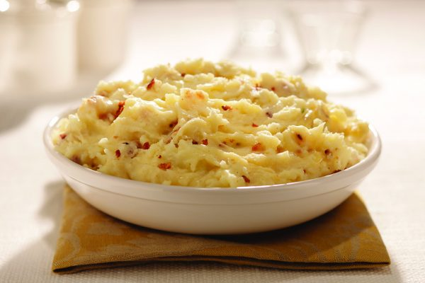 Smoky Golden Mashed Potatoes in a Bowl