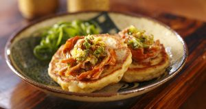 Kimchi Pancakes on a Plate