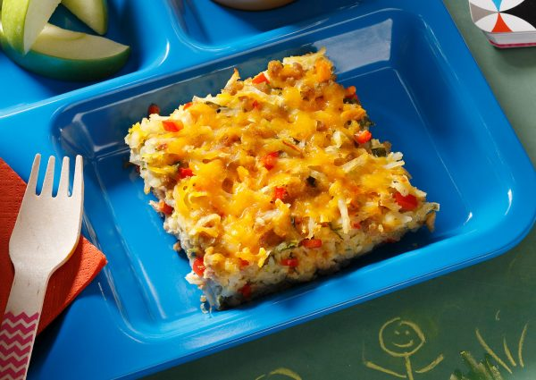 Confetti Hash Browns on a Tray