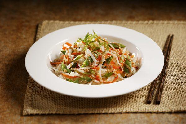 Thai Potato Salad on a plate