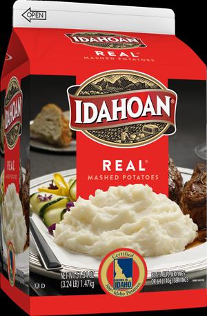 Idahoan REAL Mashed Potatoes Carton