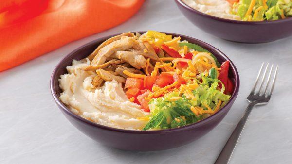 Loaded Fajitas Mashed Potato Bowl