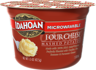 Microwavable Four Cheese Mashed Potatoes