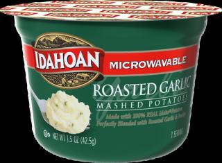 Microwavable Roasted Garlic Mashed Potatoes