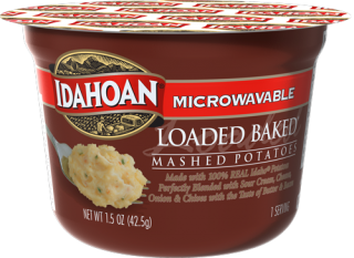 Microwavable Loaded Baked Mashed Potatoes