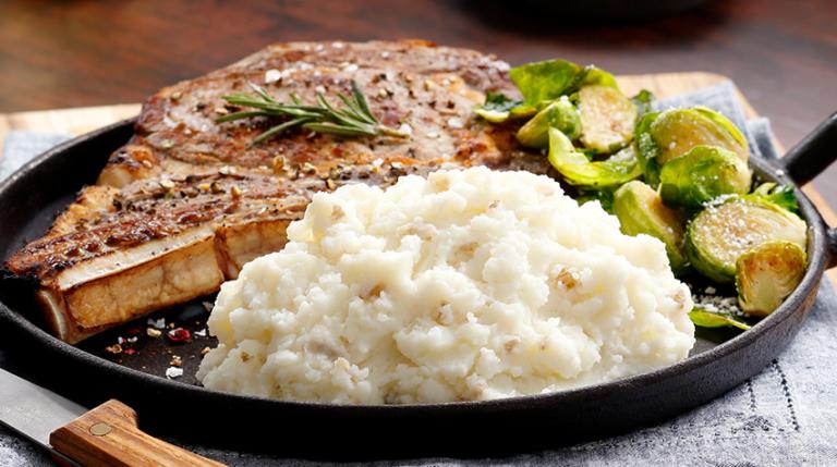 Steak with Idahoan Mashed Potatoes